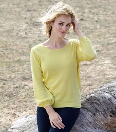 Cotton Sweater | Women's | Blouse Sleeves | 30% Silk | Wool Overs USA