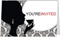 Mad Men Party - the front of the invitation - done on vistaprint.com