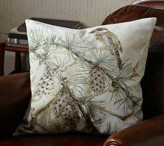 Snow Pine Bird Pillow Cover | Pottery Barn