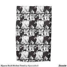 Alpacas Rock Kitchen Towel