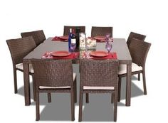 International Home Miami Grand Liberty Square Nine Piece Dining Set Pli Grandliber_sq