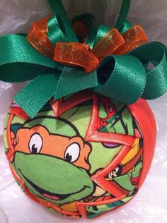 Teenage Mutant Ninja Turtles Michelangelo Inspired Quilted Star Christmas Ornament on Etsy, $18.00