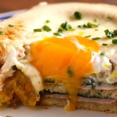 Ham Cheese Egg In The Hole Layered Bake Recipe by Tasty