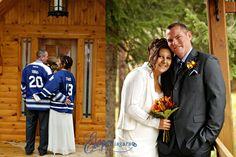 Toronto Maple Leafs wedding couple
