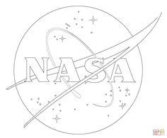 Nasa Coloring Page - Space Coloring Pages Collection Collection of Images about NASA, the space shuttle, and other aspects of space travel. By coloring these images, you will learn about space travel. Planet Coloring Pages, Space Coloring Pages, Coloring Sheets, Space Party, Space Theme, Tumblr Drawings Easy, Nasa Party, Nasa Pictures, Space Drawings