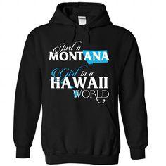 A MONTANA-HAWAII girl Blue02 - #first tee #purple hoodie. ORDER HERE  => https://www.sunfrog.com/States/A-MONTANA-2DHAWAII-girl-Blue02-Black-Hoodie.html?id=60505
