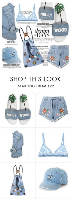 """#1312"" by merrygorounds ❤ liked on Polyvore featuring Joshua's, Baku, House of Holland, Cosabella, IF Bags, SO, Whiteley, denim, denimshorts and polyvoreeditorial"