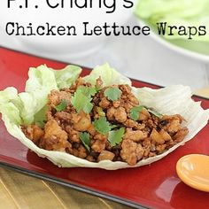 These were awesome and low calorie! Pretty basic. Adam didn't like the water chestnuts so would probably leave those out next time. Brought to work for lunch. Of course I used extra sriracha to make it spicier.---Copycat PF Chang's Chicken Lettuce Wraps