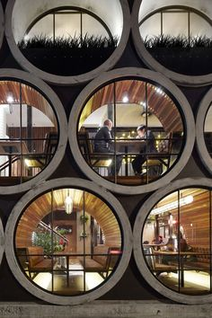 "Take a look at renewed Prahan Hotel in Melbourne, Australia. Techné Architects made a design y adding an extension that uses oversized concrete pipes. ""The Prahan Hotel is Architecture Design, Beautiful Architecture, Melbourne Architecture, Hotel Architecture, Australian Architecture, Installation Architecture, Landscape Architecture, Module Architecture, Landscape Design"