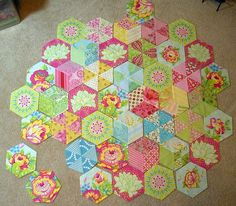 January 2011 photo of my Candied Hexagon progress by artistdoris, via Flickr