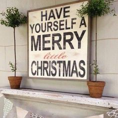 I LOVE this sign!!!  Who's gonna make it for us so we can put it up at CHRISTMAS CRATE HQ?!? Is this look considered country cottage Christmas? love love love! Visit us---> Celebrate Christmas year round today