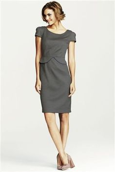 Next grey & navy spot dress