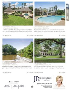 Jennifer Rice is the agent for these great listings featured in our Estates & Homes Magazine!