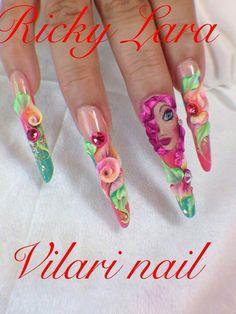 . 3d Nail Art, Art 3d, 3d Nails, Swag Nails, Acryl Nails, Creative Nails, Canvases, Nail Designs, Artwork