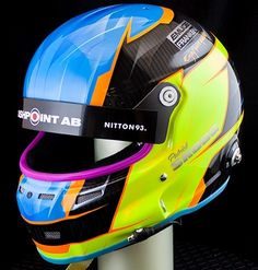 Have to update you with some old pics Patrick Skoog 2016 #Stilohelmet painted neonstyle ala pastelltheme a mix of yellow neon and chartruese neon blue neon mixed with Polestar blue and orange neon mix with honey neon #neons from #houseofkolor #hok all covered with clearcoat from #glasurit #basfrefinishing #trimz by #antman tapes from #jtape #sprayguns #airbrush from #iwata #anestiwata #helmetpaint #helmetdesign by me #360gfx_com thanks for choosing me