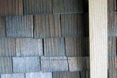 How to Age, Grey or Weather Wood with Common Household Items: Colors produced by applying a vinegar and steel wool aging solution to raw red cedar wood.
