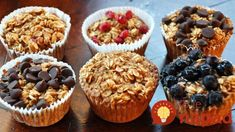 A La Graham: Individual Baked Oatmeal Cups - Clean Clean Eating 21 Day Fix Breakfast, Breakfast Recipes, Snack Recipes, Breakfast Muffins, Diet Breakfast, Snacks Ideas, Food Ideas, Diet Recipes, Breakfast Bake