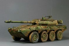 """Mediterranean mud"" 1/35 scale. By Chris Jerrett. TRUMPETER B1Centauro wheeled tank destroyer. Spanish Army. #scale_model"