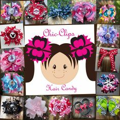 cute hairbows-  lots of fun examples
