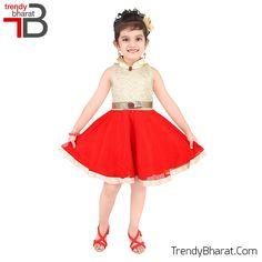#Princess #RedandGolden #Cute #Dress #Kidswear #Betrendy