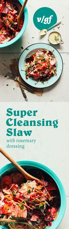 Super Cleansing Slaw with Rosemary Dressing | Minimalist Baker Recipes