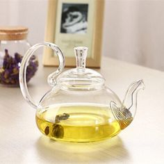 Heat-Resistant-Elegant-Glass-Teapot-Infuser-Flower-Green-Leaf-Tea-Pot-750ml