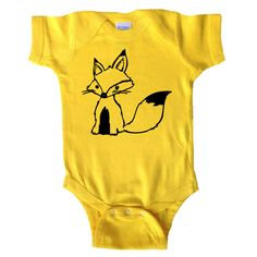 Fox - Fox One Piece Bodysuit - Baby Boy - Baby Boys Shirt - Baby and Toddler - Hipster Baby - Baby Nature and Outdoors Tee on Etsy, $15.00