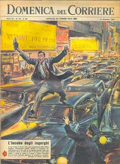 December 16, 1962: The man jumping on cars  George A. Compton, immobilized by car from a traffic jam, was out of the car and took off my shoes, he began to climb the building of cars River springing from machine to machine.