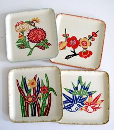 Japanese paper coasters