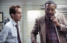 Lance Henriksen and Paul Winfield in The Terminator (1984)