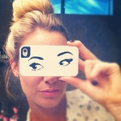 Saw this Iphone case on katespade.com yesterday, when I get my new phone I'm getting it :) The eyes remind me of Audrey Hepburn