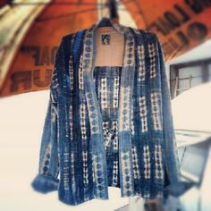 Is This Fashion or Is This ART_VISVIM Handcrafted Indigo Tie Dyed Japanese Kimono Vest