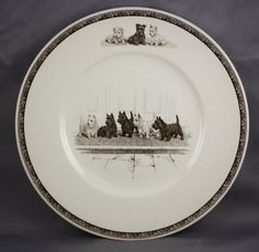 """NEW.....Wedgwood Non Sporting Dog Plate Scottish West Highland Terriers """"A Full House""""   eBay"""