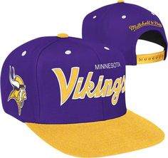 dbdc333e470 Minnesota Vikings Mitchell   Ness Throwback 2 Tone Adjustable Snapback Hat  Minnesota Vikings
