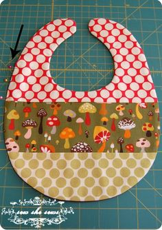 quilted baby bibs - great gift!