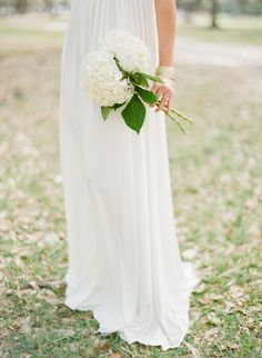 single stem hydrangea bouquets Bouquets for the bridesmaids