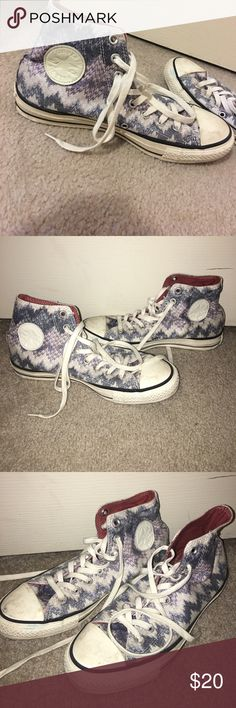 Patterned converse missoni Cool patterned converse. Will wipe down--in great condition converse  Shoes