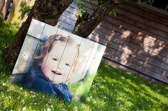 Foto op hout geprint