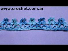 Puntilla N° 50 en tejido crochet tutorial paso a paso. - YouTube
