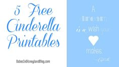 Free Cinderella Printables! Just as pretty as anything you would buy on Etsy. #free