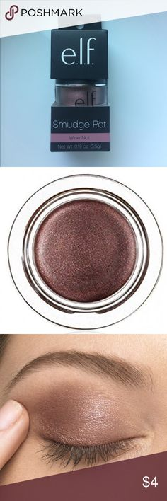 👀E.l.f. Smudge Pot👀 This smooth gliding gel formula is perfect as a long-lasting eyeshadow or eyeliner. This perfect rose-gold shade is the perfect splash of color for any eye look!😋 ELF Makeup Eyeshadow