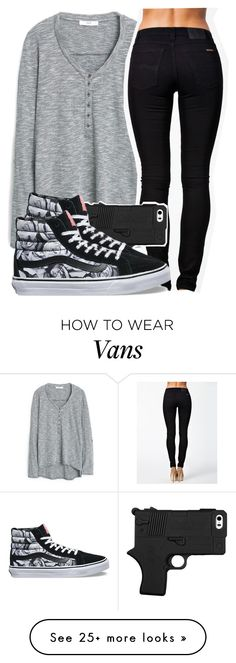 """Guns 'N' Roses"" by carlasaenz on Polyvore featuring MANGO, Nudie Jeans Co. and Vans"