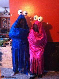 Sesame Street Martians - homemade Halloween costumes