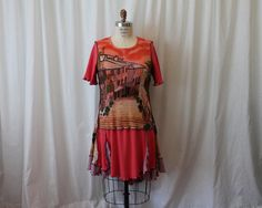 Eco women clothing Boho chic dress Altered couture by MilaLem, $62.00