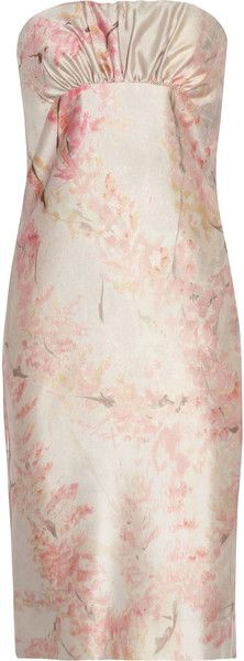 VALENTINO Printed Silk and Wool Blend Dress - Lyst