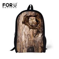 3d5096c90a Stylish 3D Zoo Animals School Backpack for Girls Boys Owl Bird Bagpack Children  Kids Rucksack Teenagers Casual Mochila femininas