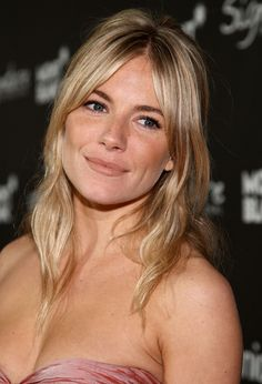 Sienna Miller Long Center Part - Sienna Miller looked lovely with wavy tendrils framing her face during the Montblanc Signature for Good Charity Gala.