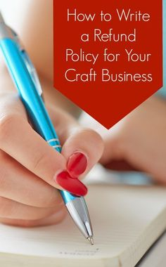 How to Write a Refund Policy for your Silhouette Cameo or Cricut Small Business - by http://cuttingforbusiness.com