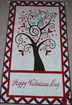 Happy Valentine's Day Quilted Wallhanging