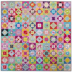 Red Pepper Quilts: Economy Block Quilt II - A Finished Quilt